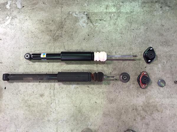 BMW 3シリーズ E46 ショック オイル漏れ