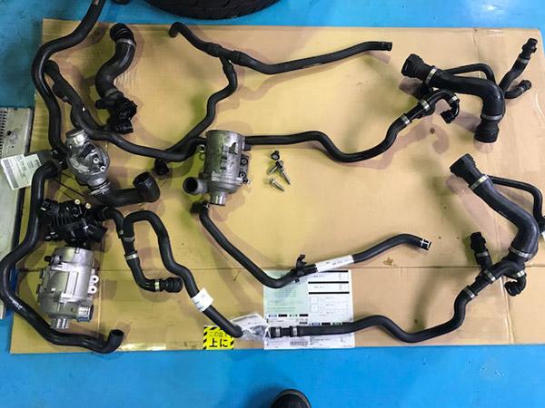 5シリーズ E60 525i 水温が高くなる エンジン冷却水トラブル修理