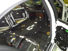 BMW E65 (7シリーズ)車内水濡れ修理
