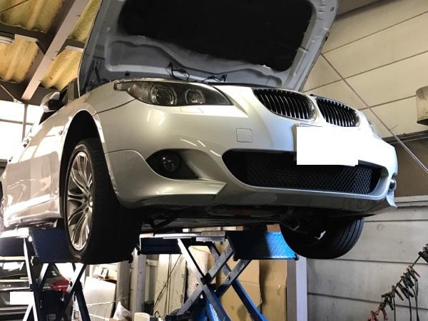 BMW5シリーズ530i E60 エンジンオーバーヒート警告灯