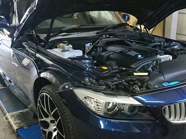 BMW Z4 車検整備 ベルト廻り修理